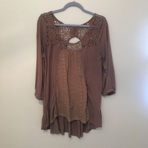 Tops - Brown cotton tunic
